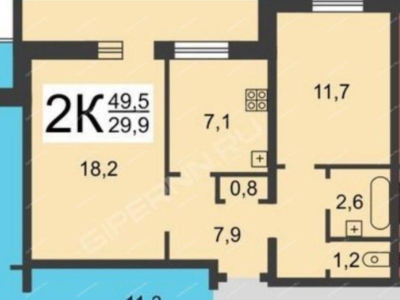 двухкомнатная квартира на улице Тимирязева дом 7